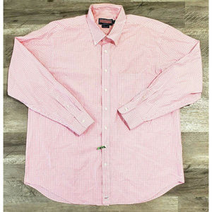 Vineyard Vines Mens Murray Pink Plaid Shirt XXL